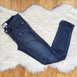 Paige Zipper Pocket Moto Skinny Jeans Size 26